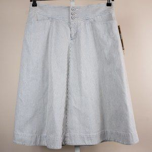 Lauren Ralph Lauren Skirt White Blue Denim Striped
